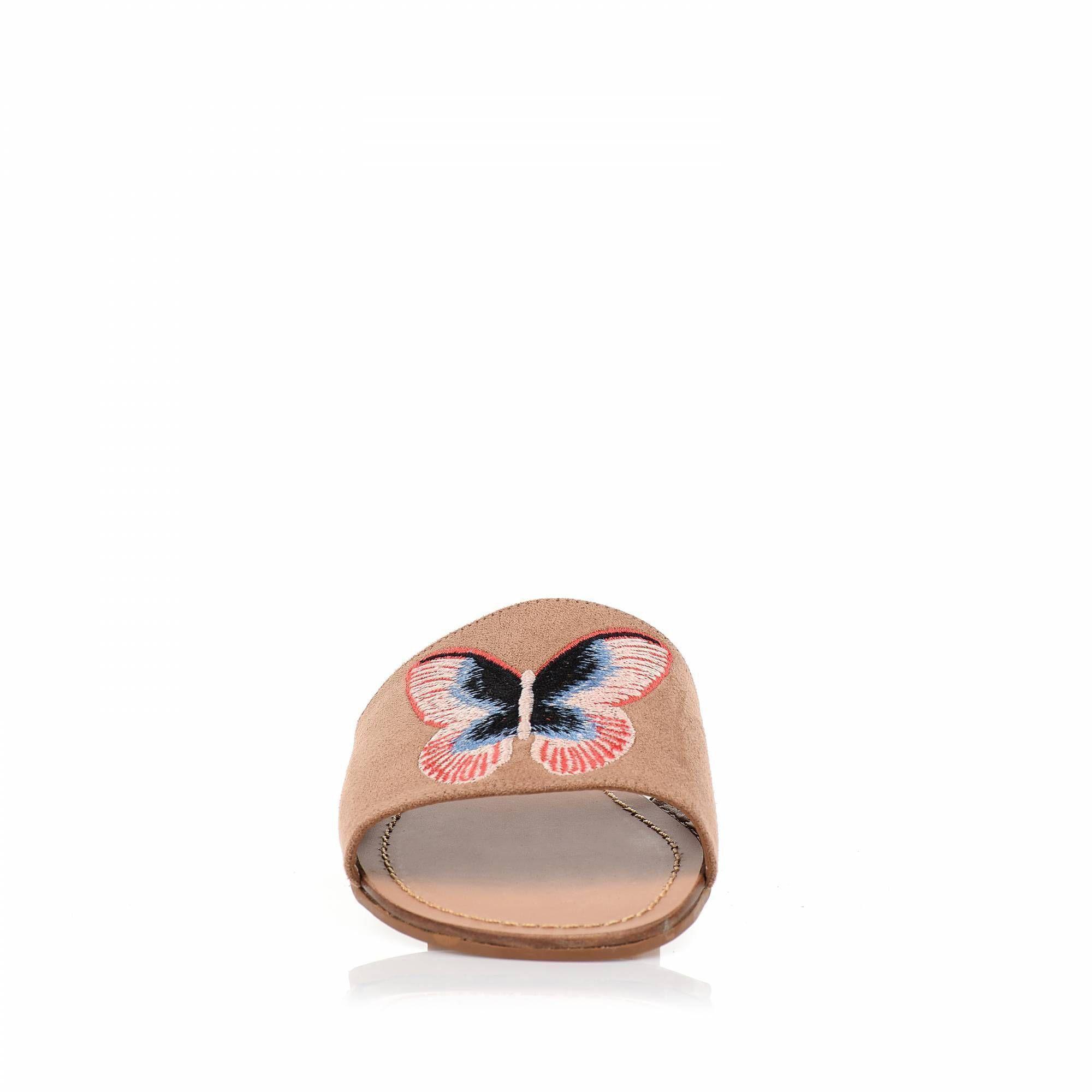 Flat Camurça Nude