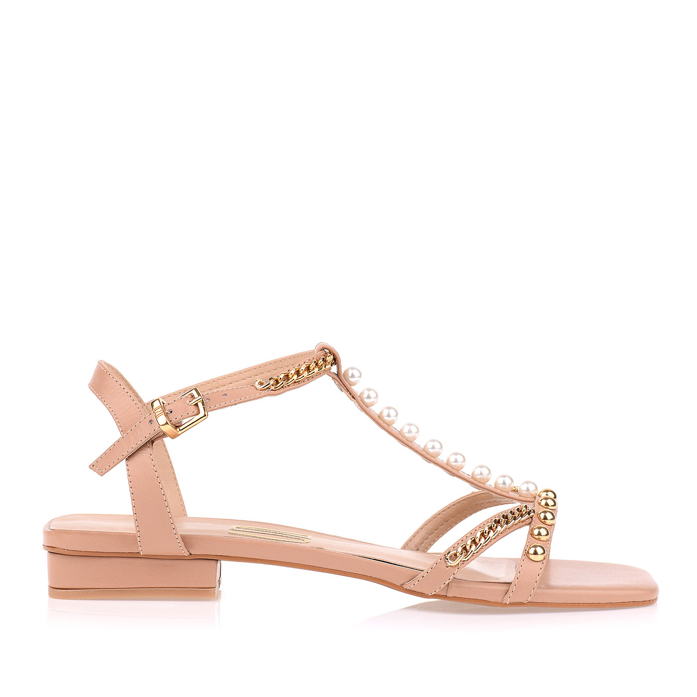 Flat New Couro Nude