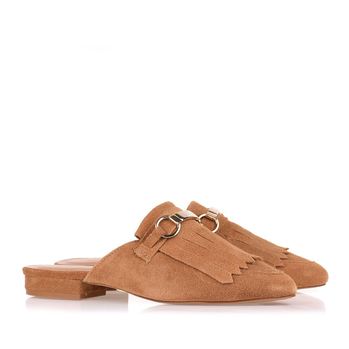 Flat New Suede Tan