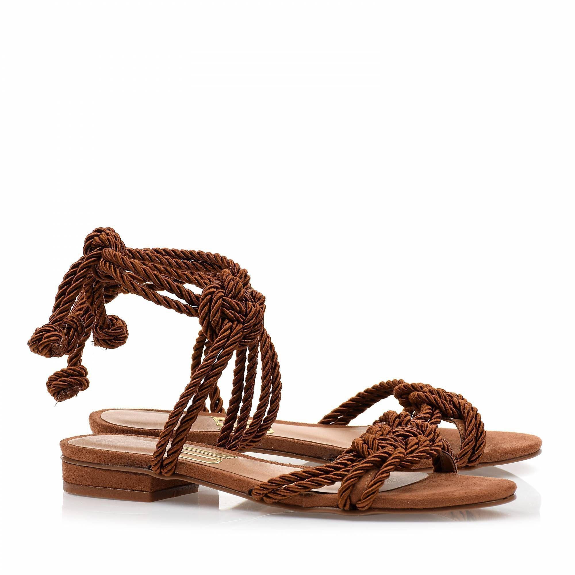 Flats Cordão Camel