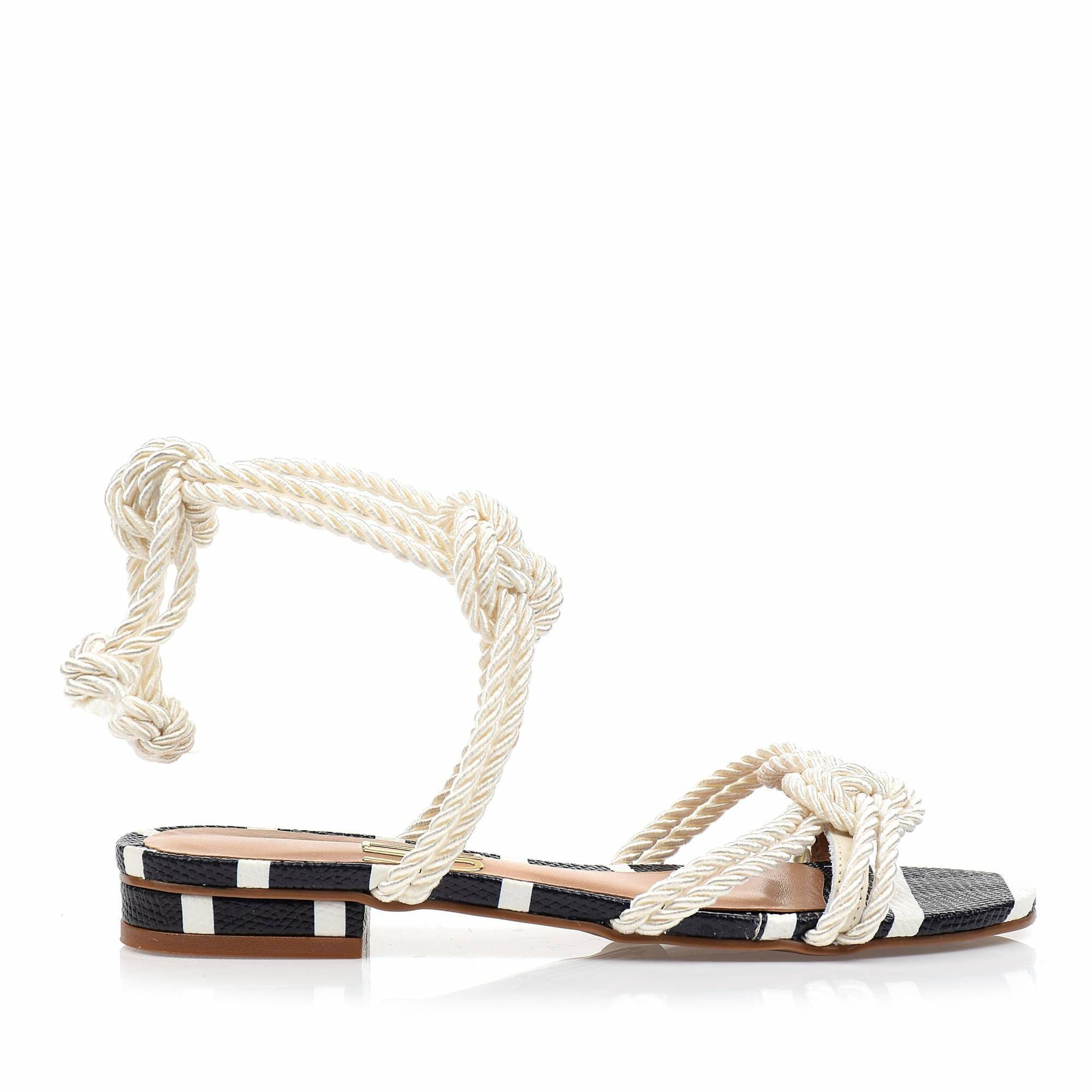 Flats Cordão Off White