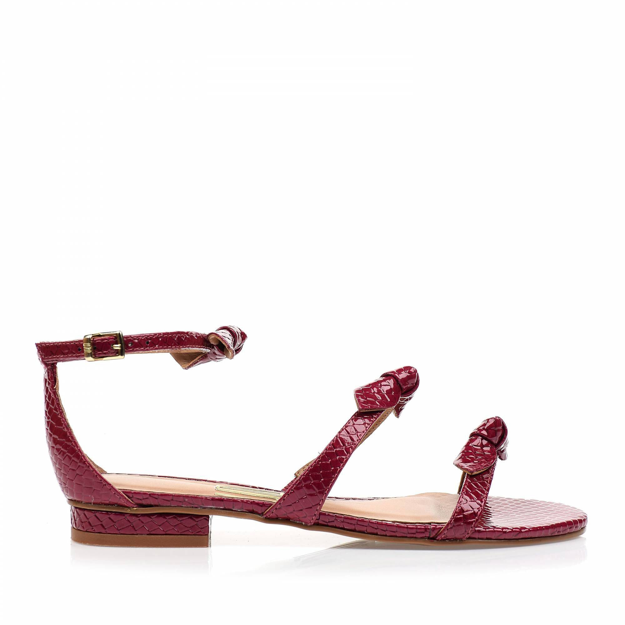 Flats Snake Lux Fucsia