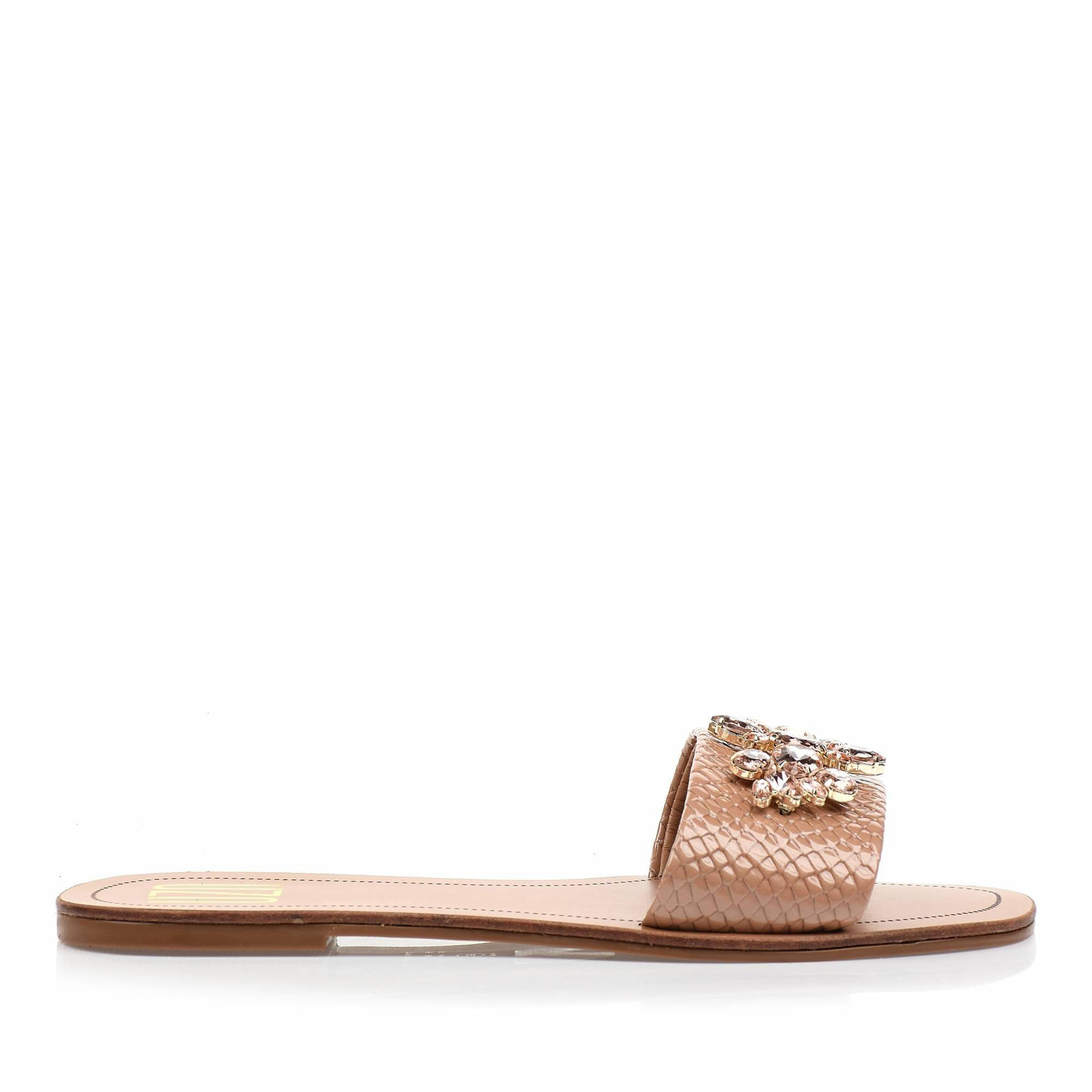 Flats Snake Lux Nude