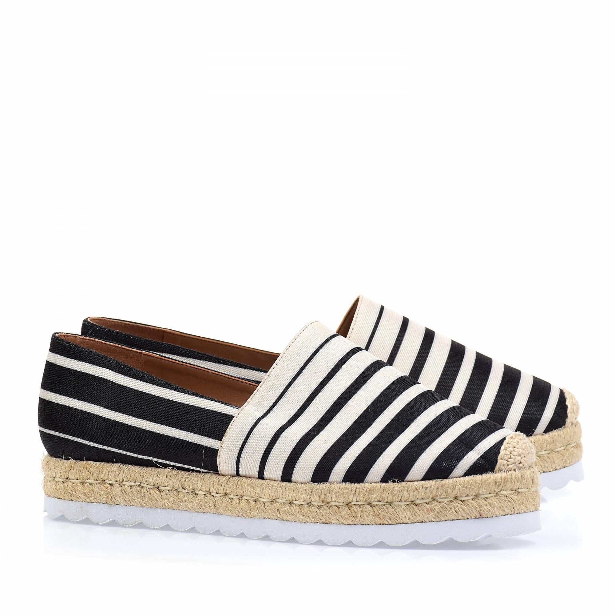 Flats Stripes Preto