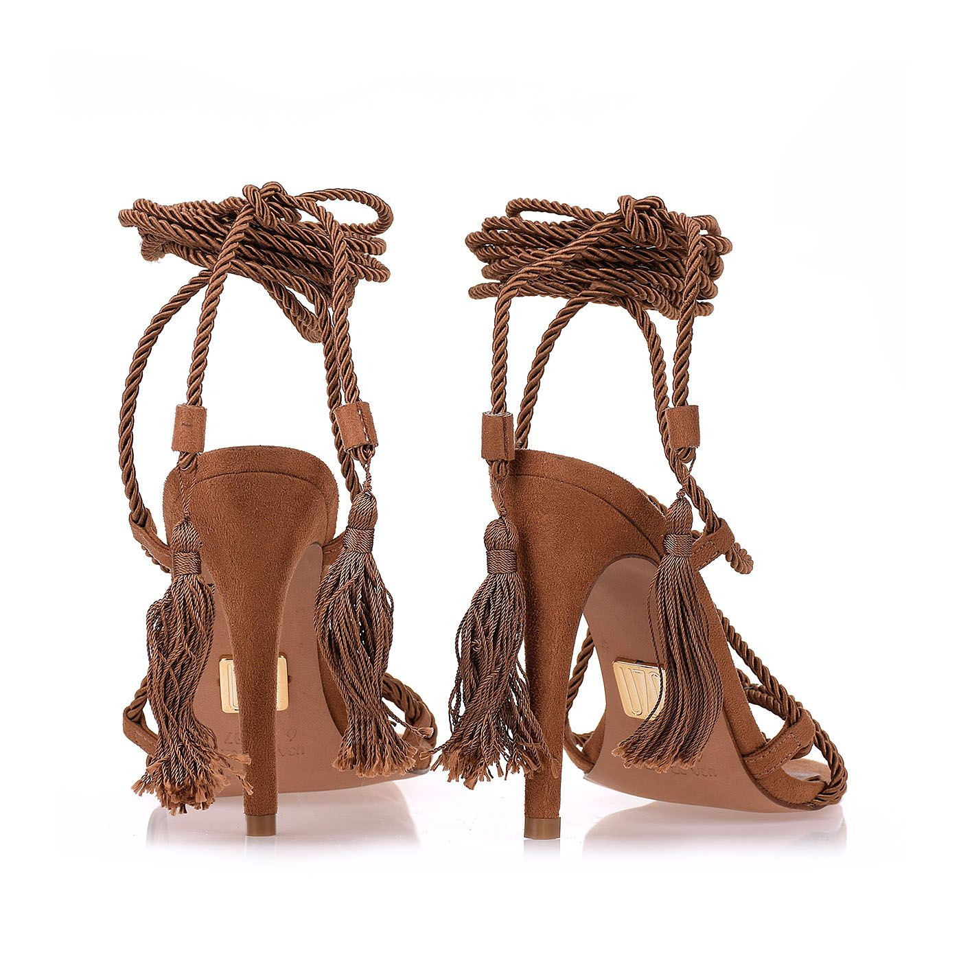 Gladiadora Salto Alto Cord Camel