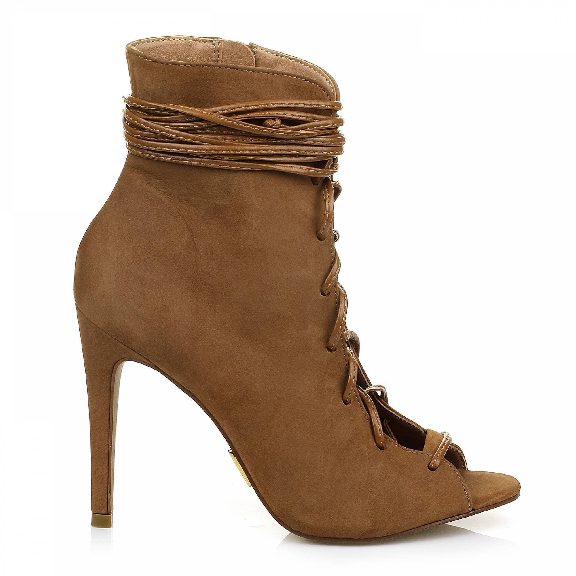 Open Boot Nobuck Camel