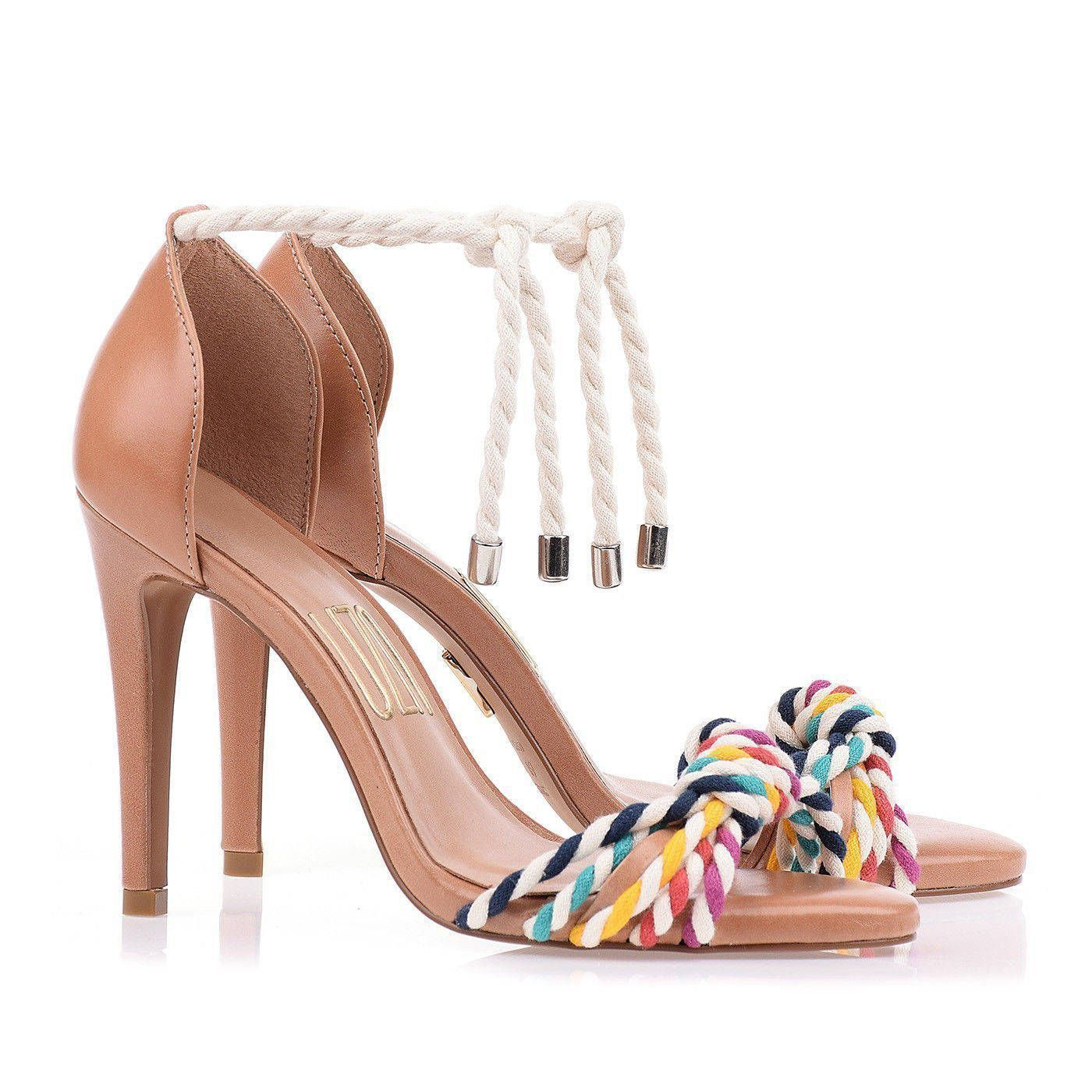 Sandália Salto Alto Color