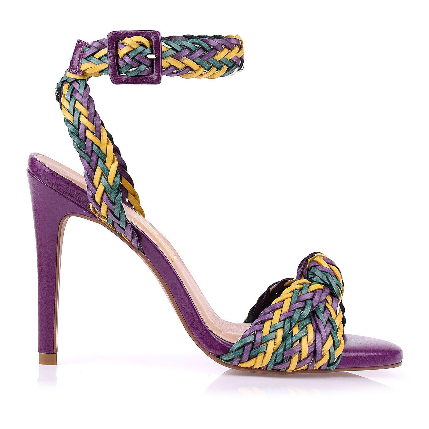 Sandália Salto Alto Color Tressê