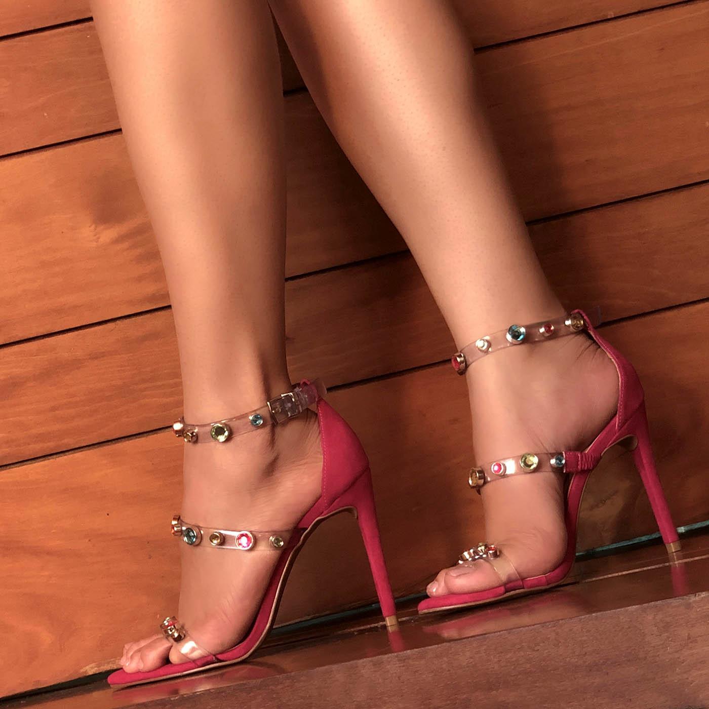 Sandália Salto Alto Colors Spots