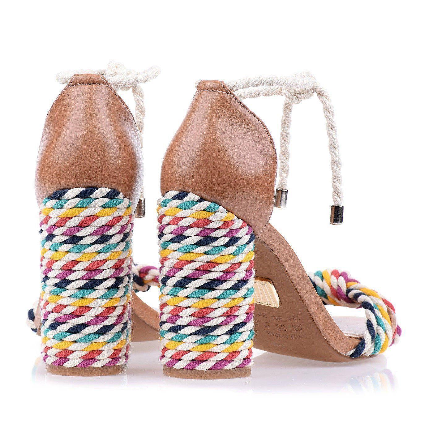 Sandália Salto Alto Cord Color
