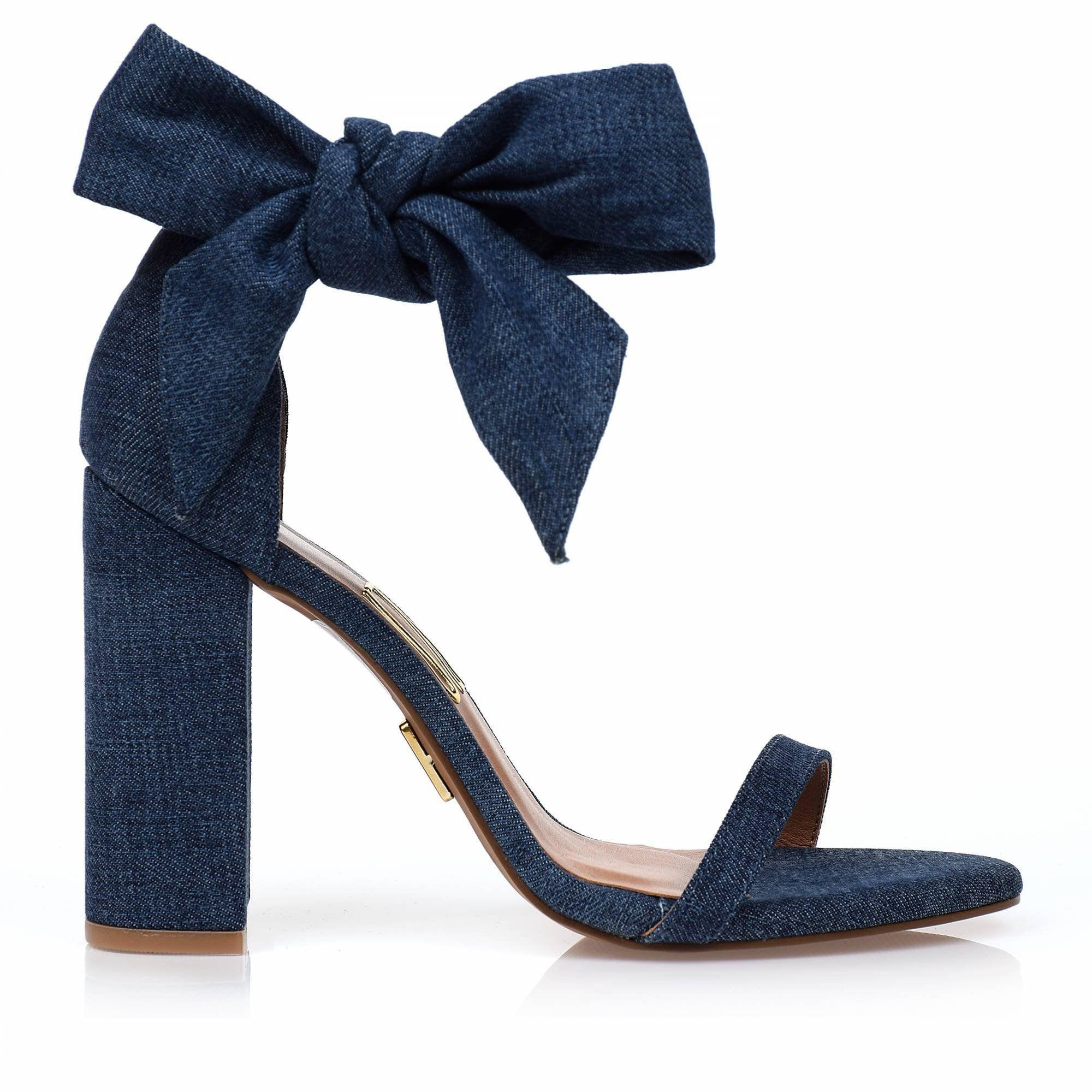 Sandália Salto Alto Jeans Now