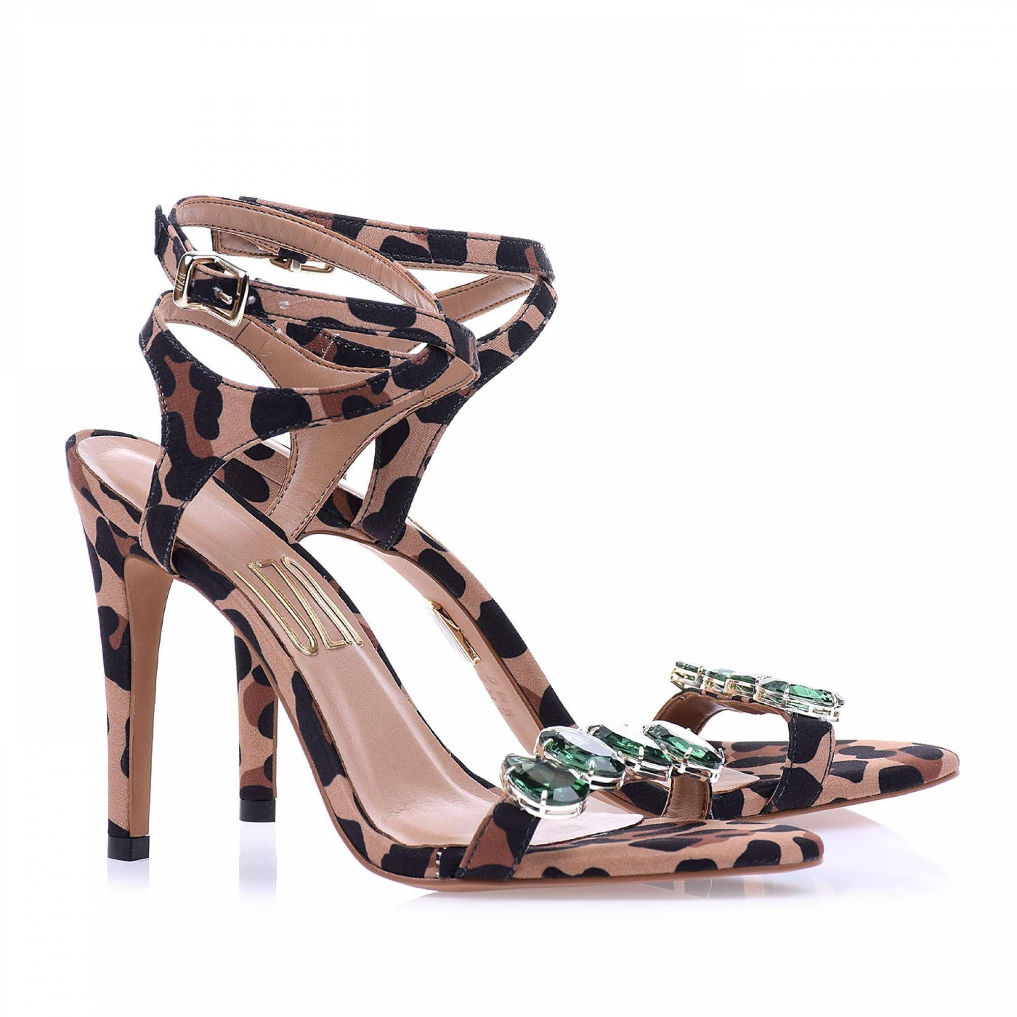 Sandália Salto Alto Leopardo