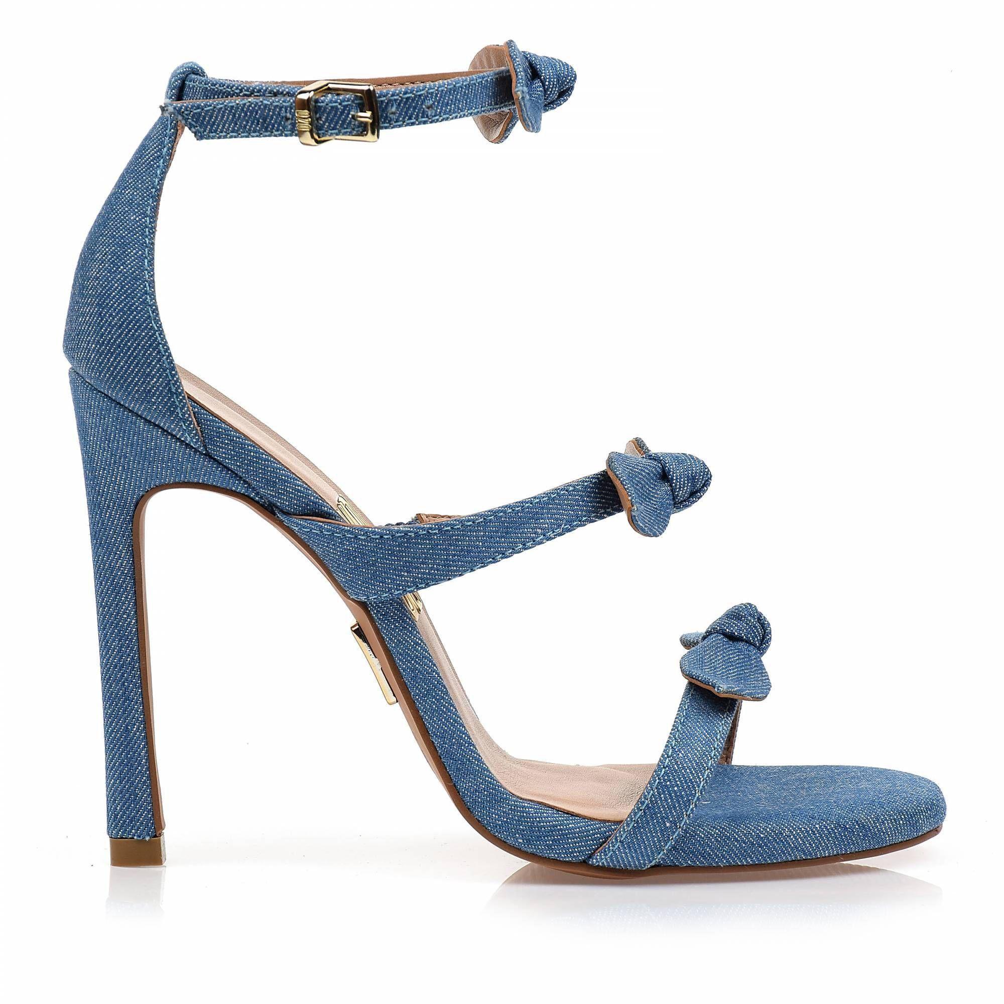 Sandália Salto Alto Light Jeans