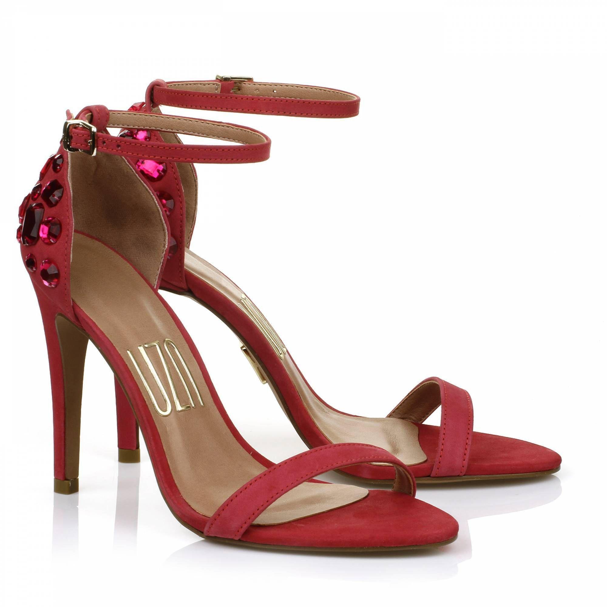 Sandália Salto Alto Nobuck Pink