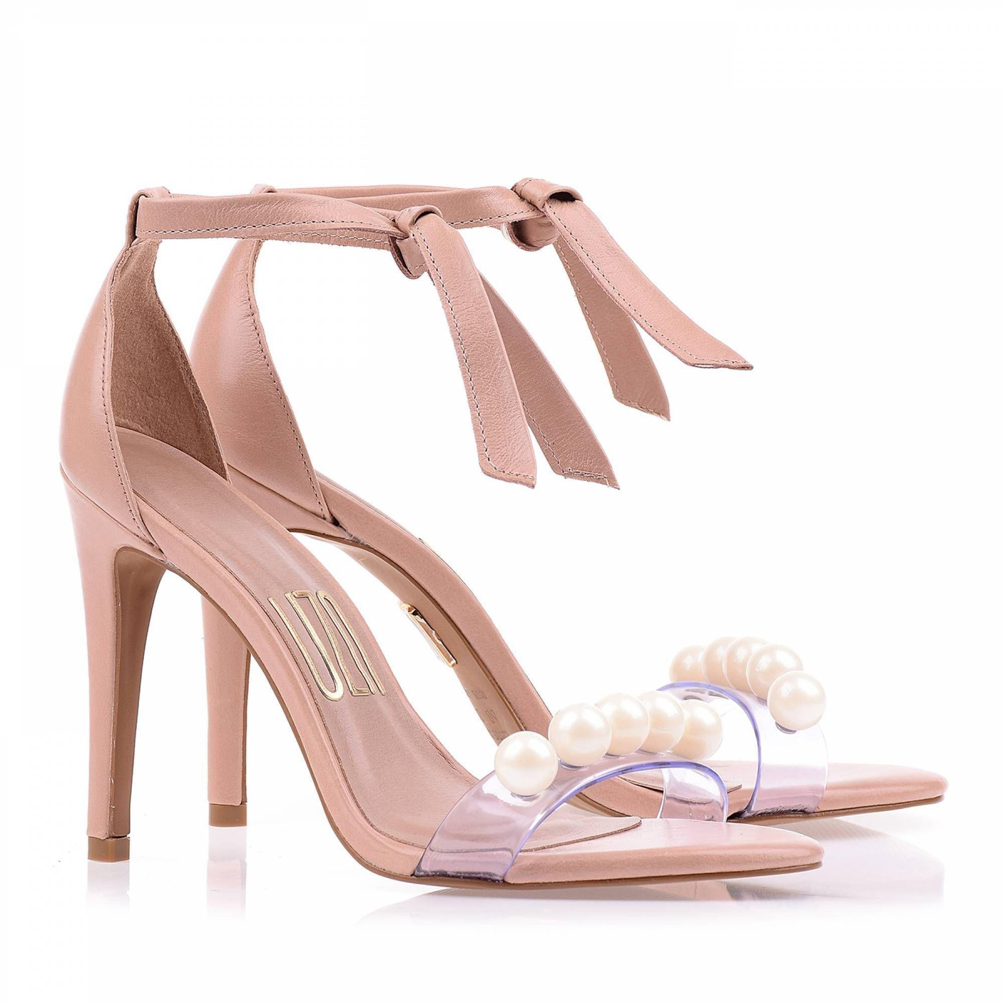 Sandália Salto Alto Prada Nude
