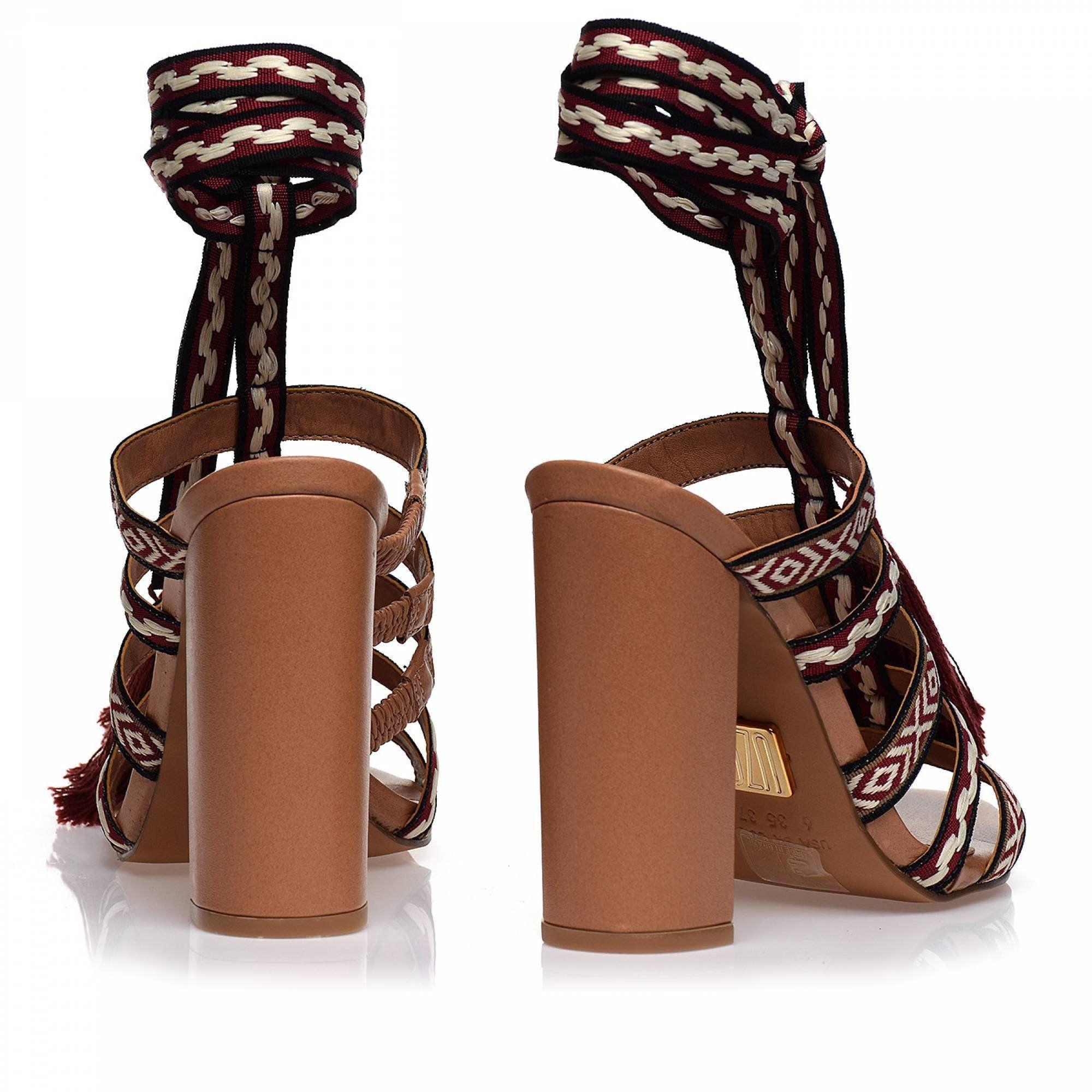 Sandália Salto Alto Ribbon