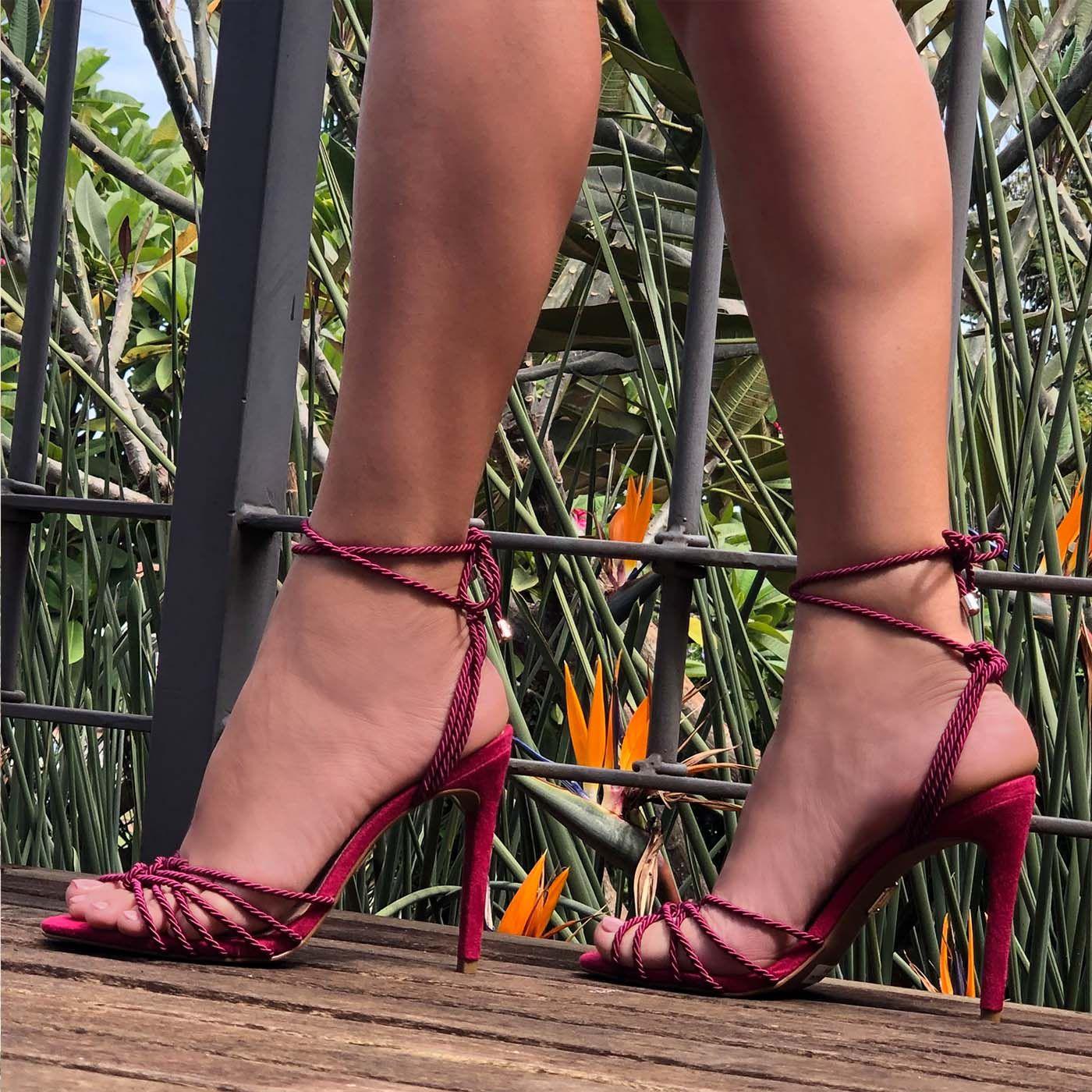 Sandália Salto Alto Slim