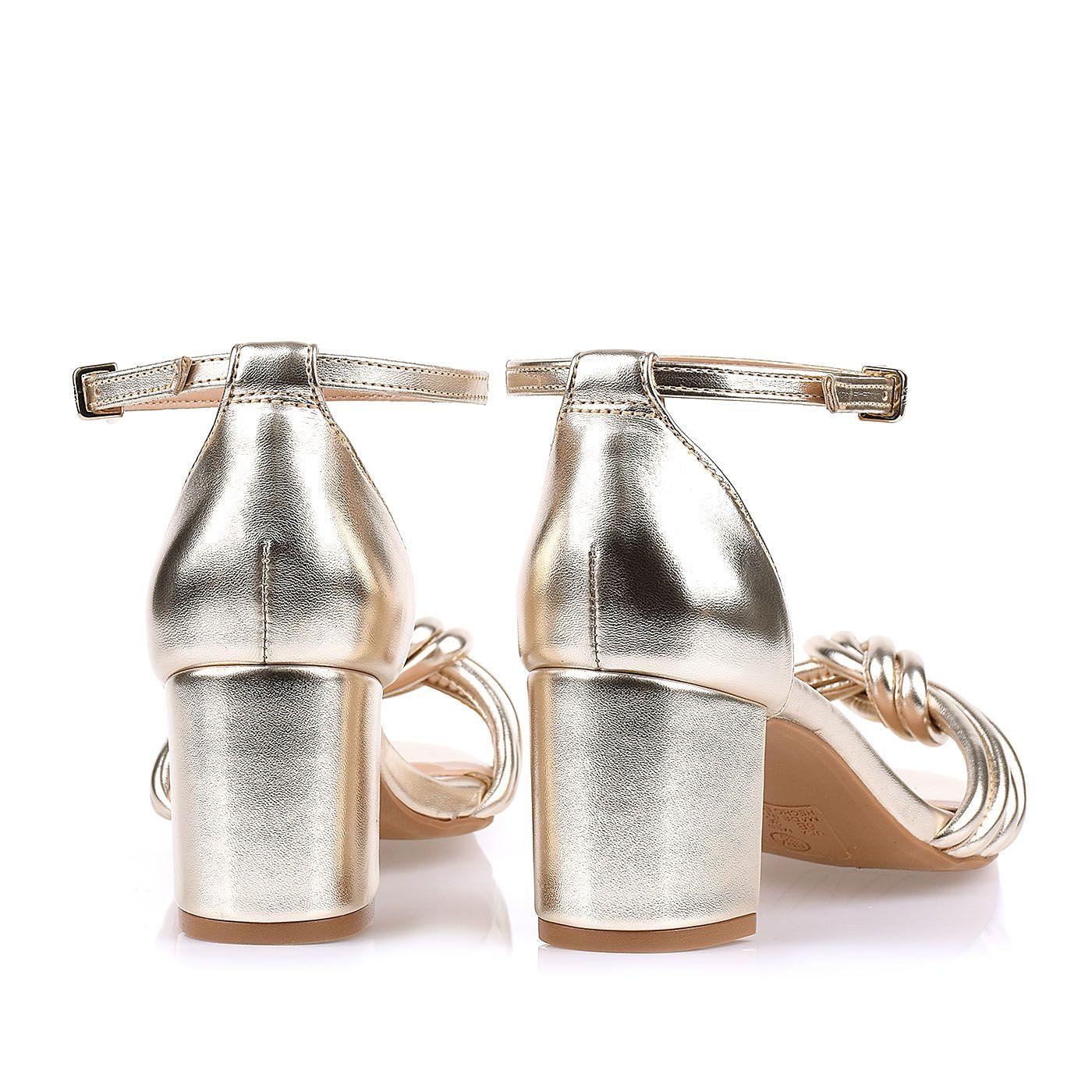 Sandália Salto Baixo Dorato