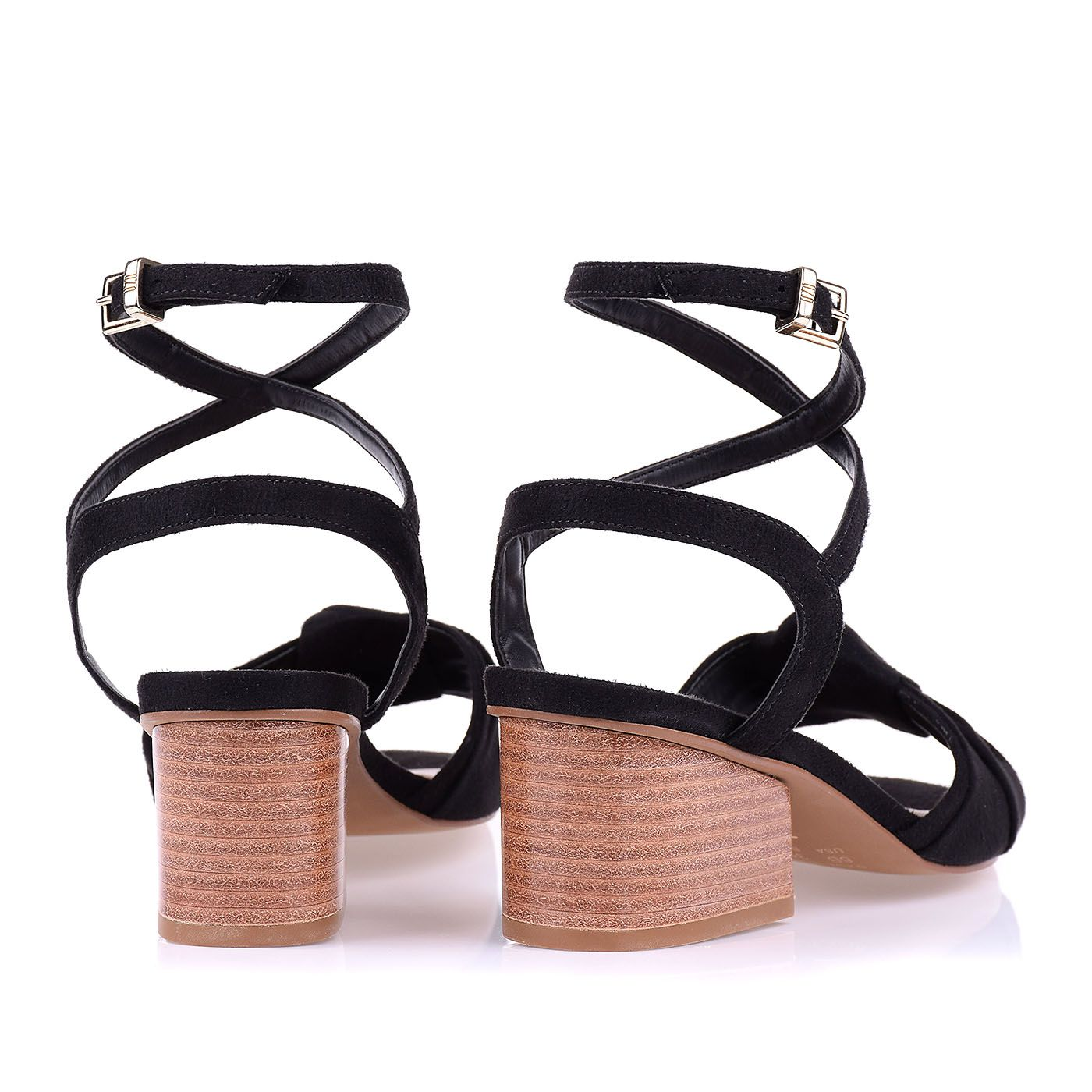 Sandália Salto Baixo Square Knot