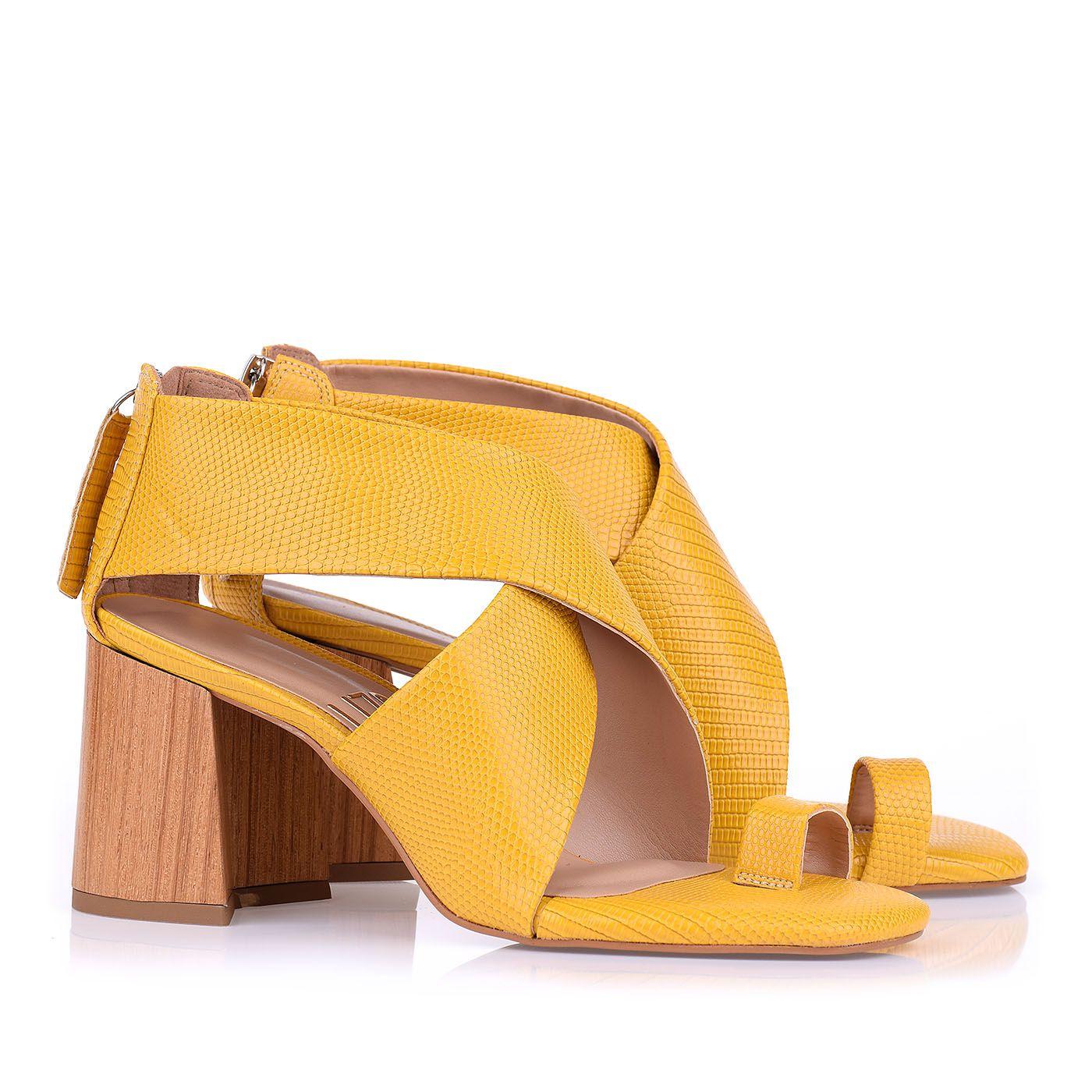 Sapato Salto Medio Amarelo - Donna Giulia