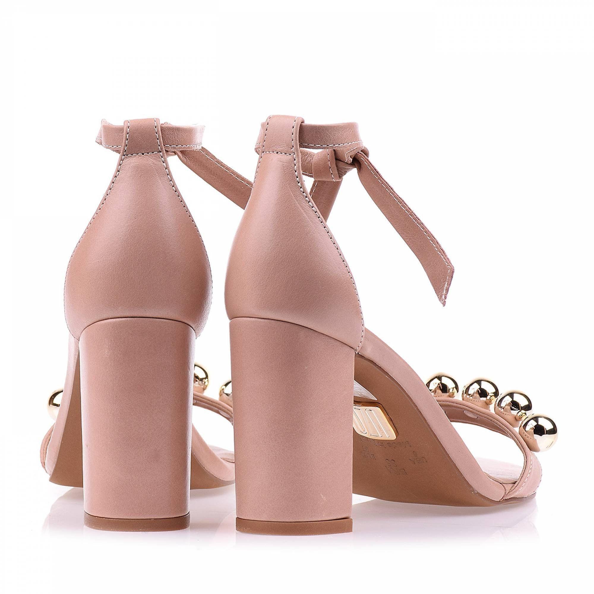Sandália Salto Médio Prada Nude