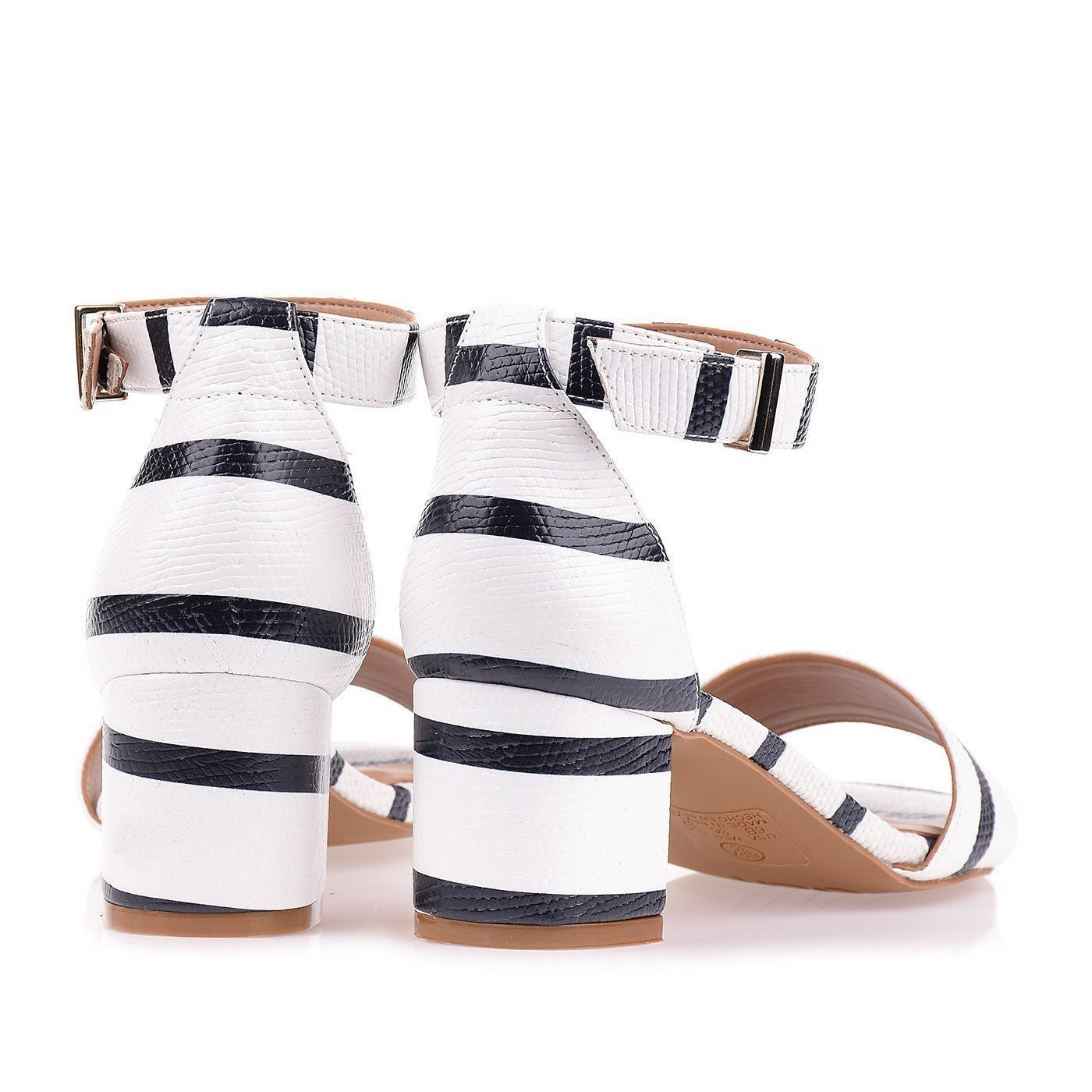 Sandália Salto Médio Sailor Blanc