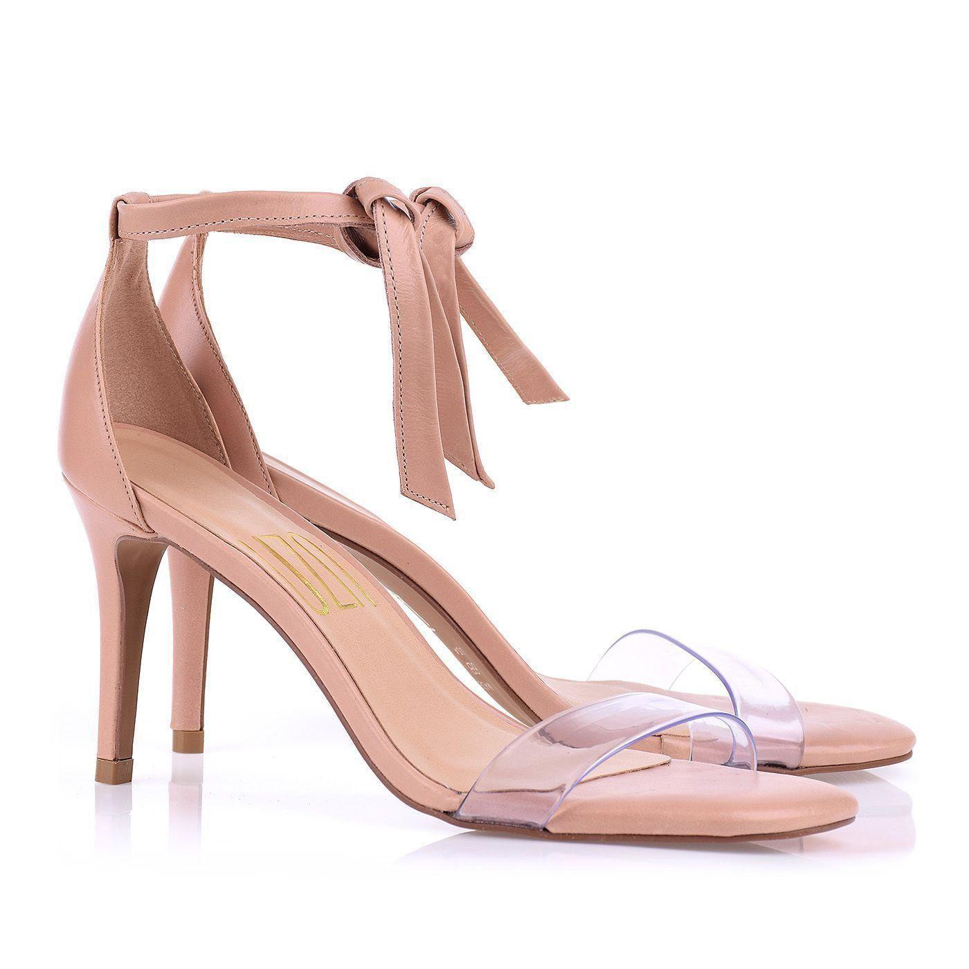 Sandália Salto Médio T.Silicone Cristal Nude