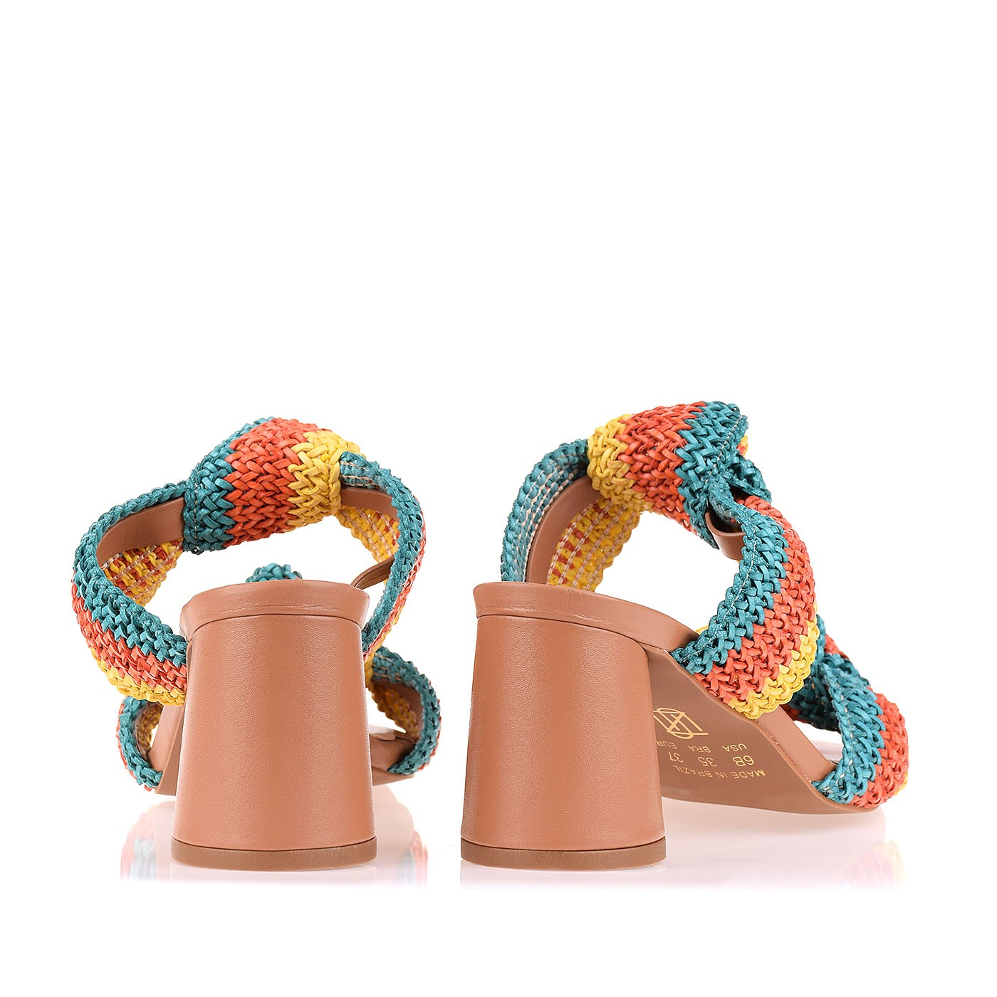 Sandália Salto Médio Tira Trisse Color