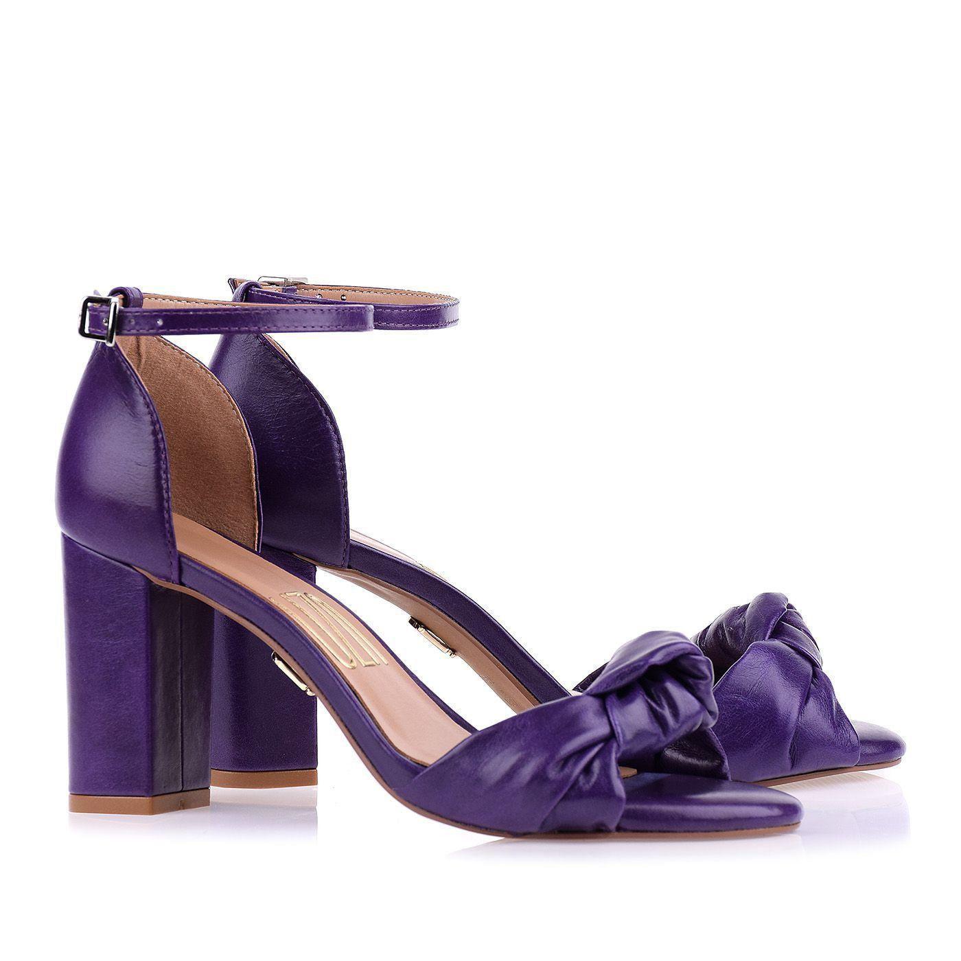 Sandália Salto Médio Violeta