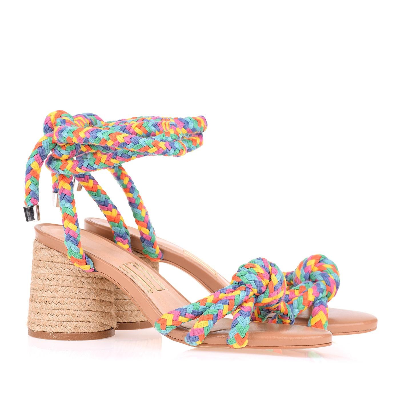 Sandália Salto Médio Whip Rainbow