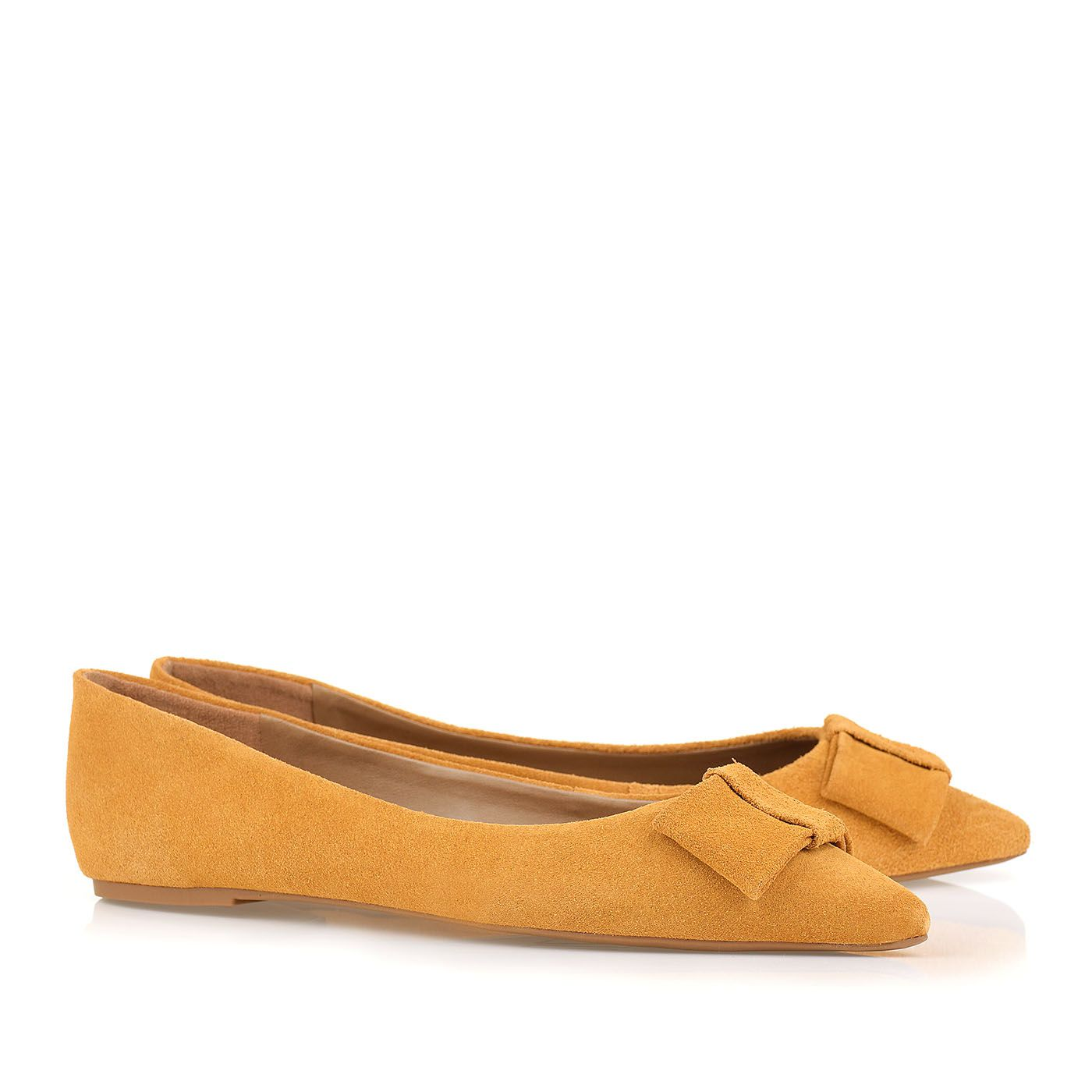Sapatilha New Suede Couro Mustard