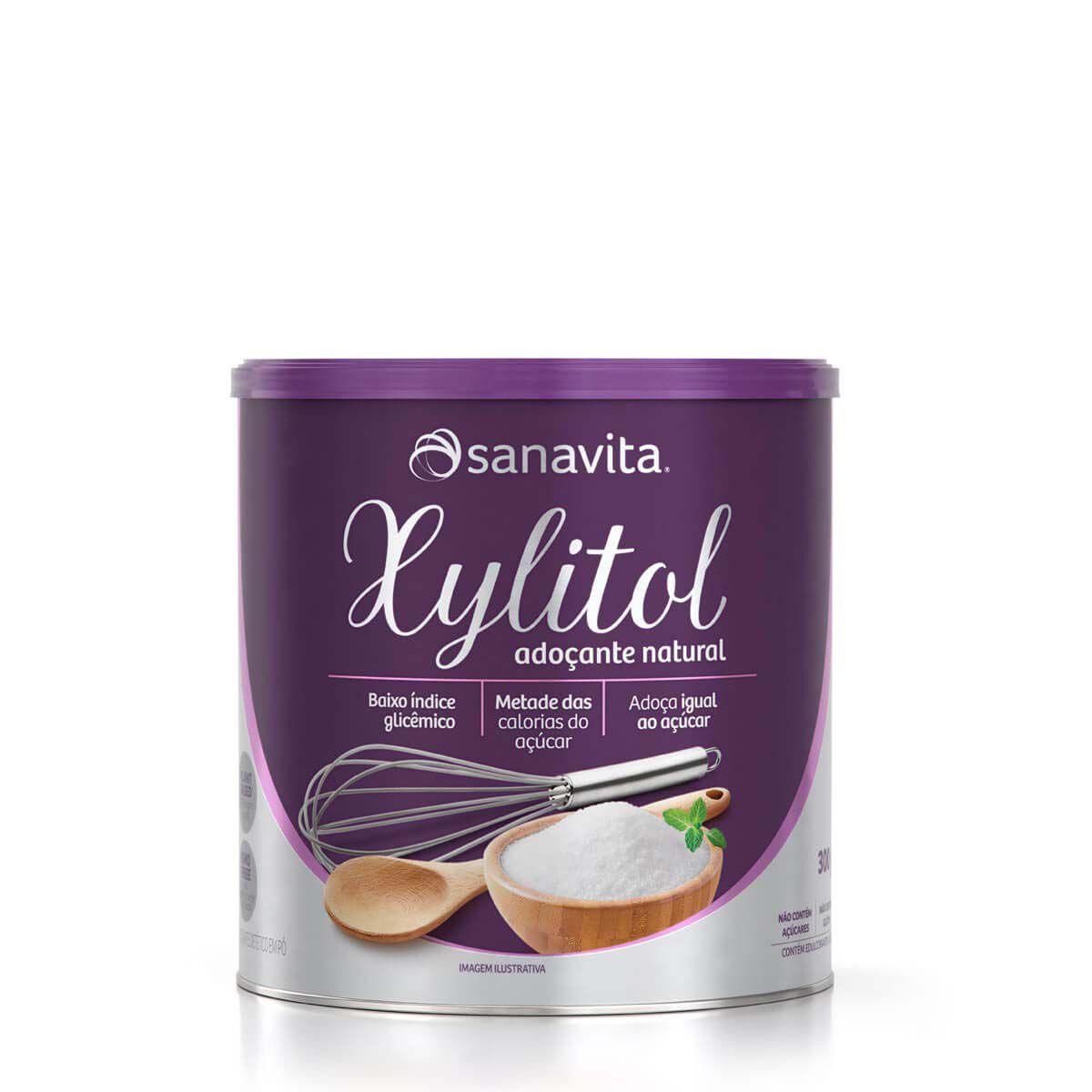 Adoçante Xylitol Natural 300g Sanavita