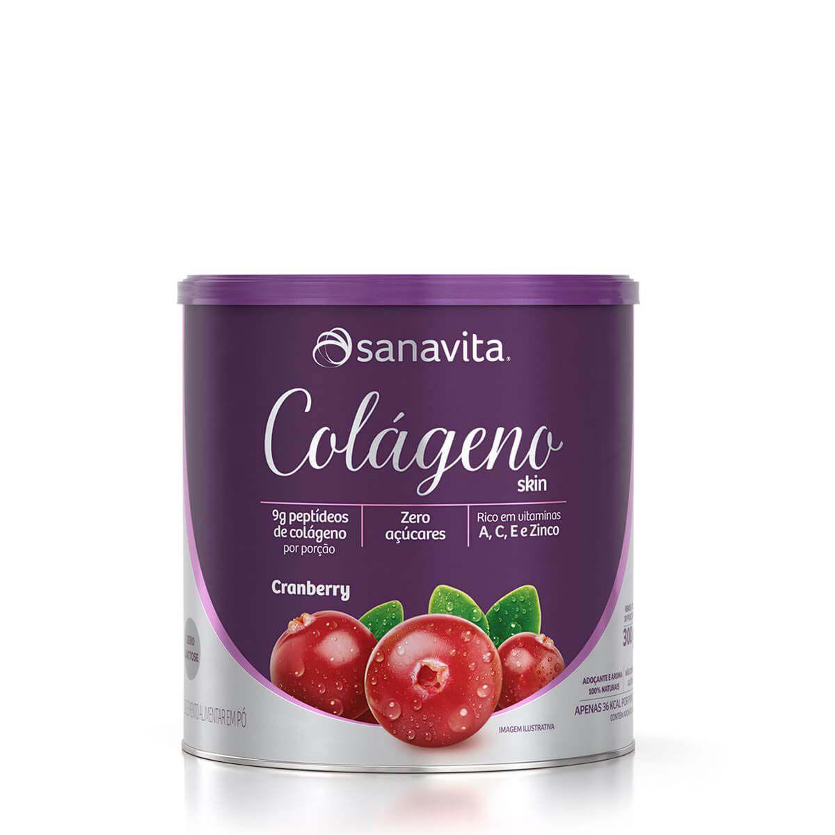 Colágeno Skin 300g Cranberry Sanavita
