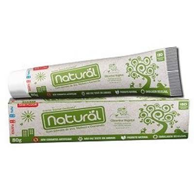 Creme Dental com Extrato de Uva, Melissa e Camomila 80g Orgânico Natural