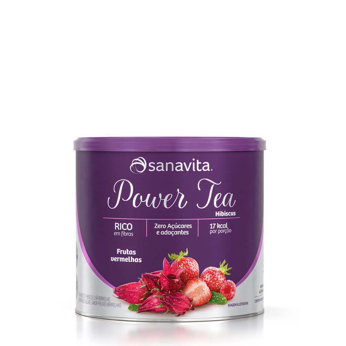 Power Tea Hibiscus Frutas Vermelhas 200g Sanavita