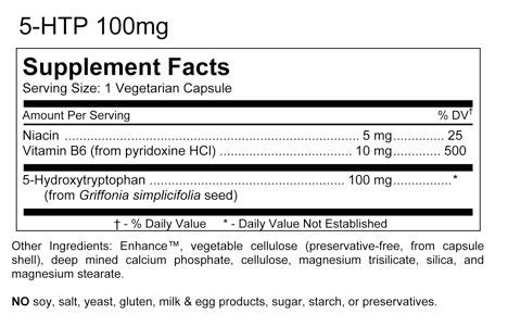 5 HTP Extreme 100mg - KN Nutrition (60 cápsulas)
