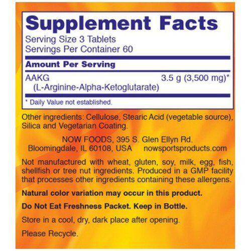 AAKG 3500 - Now Foods (180 Tabs)
