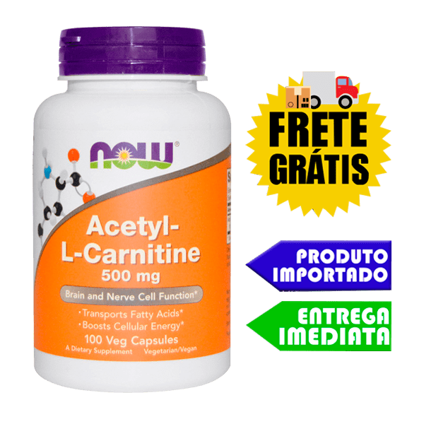 Acetyl L Carnitina - Now Foods (100 cápsulas)