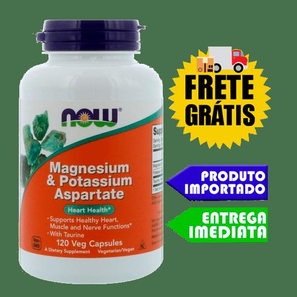 Aspartato de Potássio e Magnésio - Now Foods (120 Cápsulas)