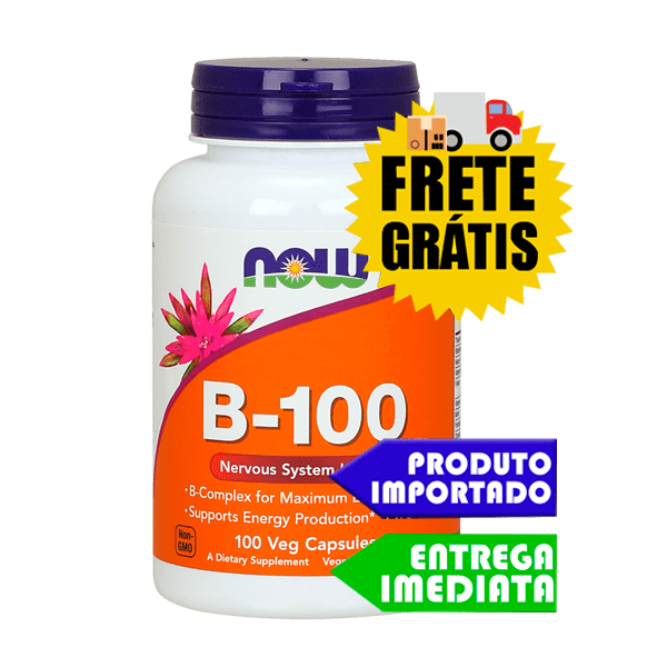 Vitaminas do Complexo B 100 - Now Foods (100 cápsulas)