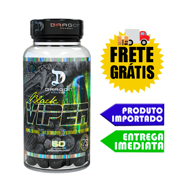 Black Viper  - Dragon Pharma ( 90 cápsulas )   VERSÃO NOVA