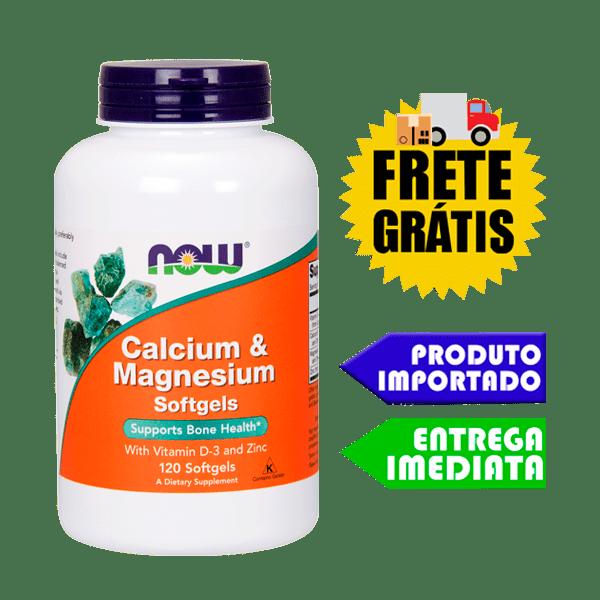 Citrato de Cálcio e Magnésio C/ Vitamina D3 e Zinco - Now Foods  (120 cáps)