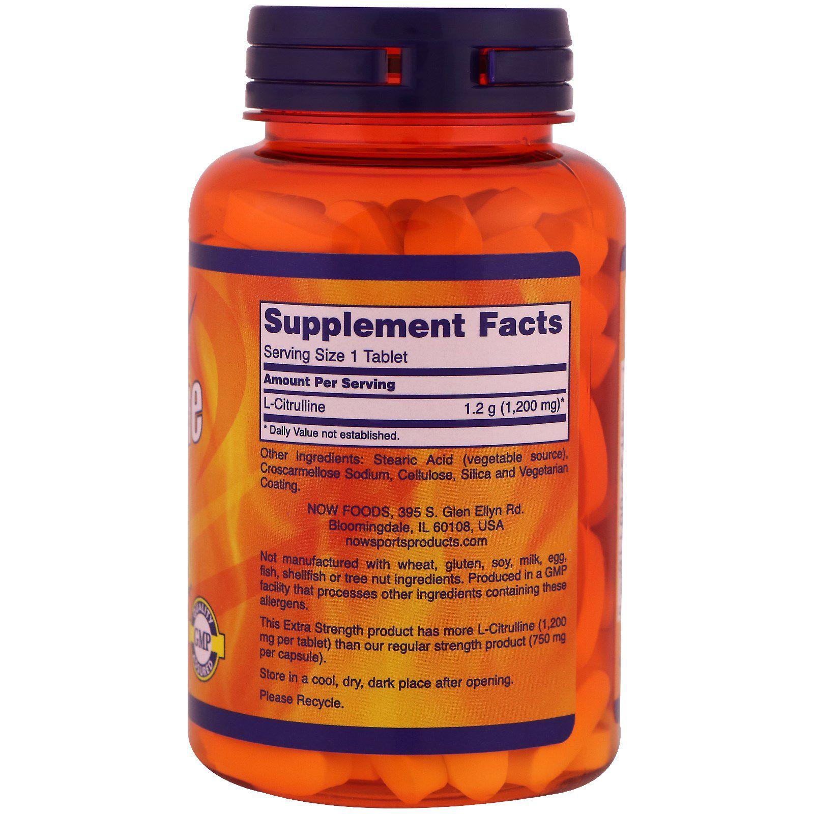 Citrulina Malato - Now Foods (120 cápsulas)