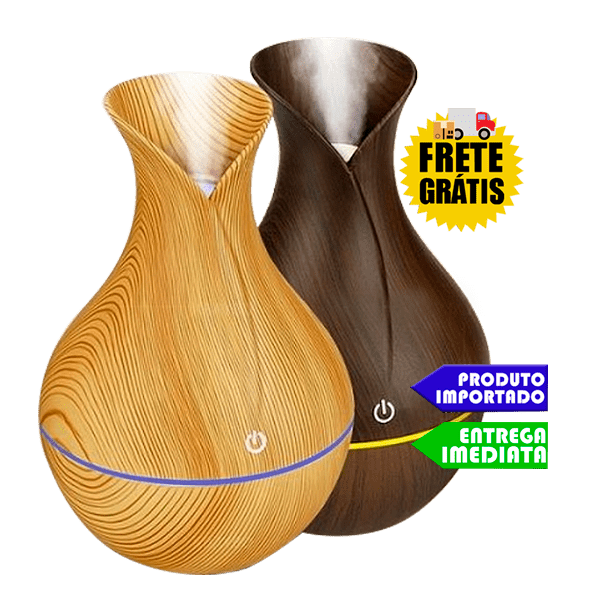 Difusor Ultrassônico Elétrico - (Madeirado) | FRETE GRÁTIS | GARANTIA |