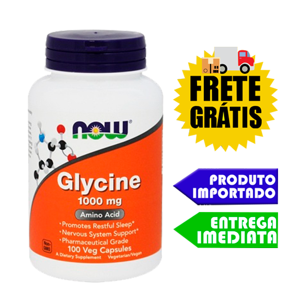 Glicina 1000mg - Now Foods (100 cápsulas)