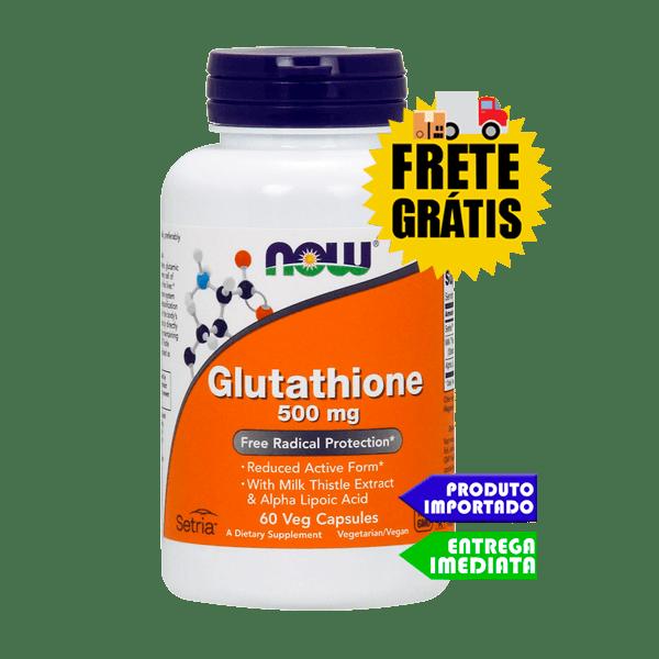 Glutationa - 60 cápsulas - 500mg - Now Foods