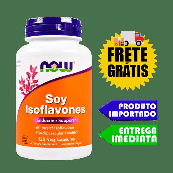 Isoflavonas de Soja - Now Foods (60mg 60cáps)
