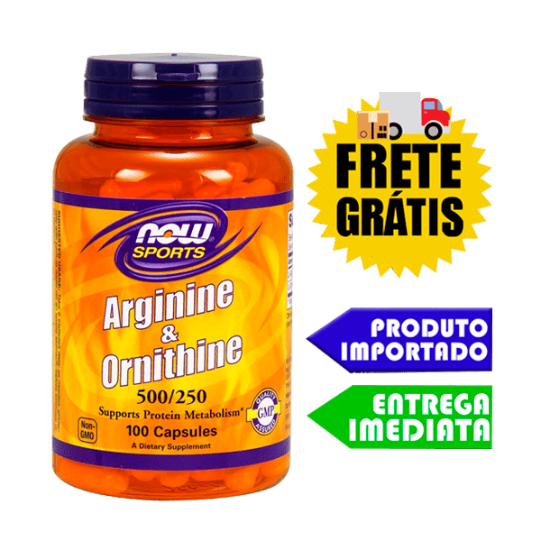 L Arginina e Ornitina 500/250 - Now Foods (100 capsulas)