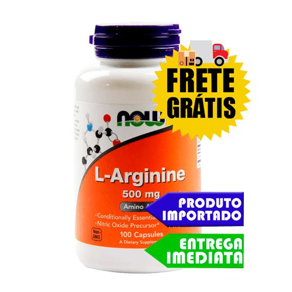 L-Arginina - Now Foods (100 cápsulas)