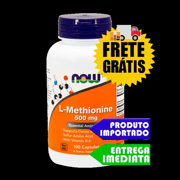 L Metionina - Now Foods (100 cápsulas)